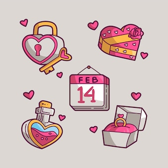 Set di san valentino