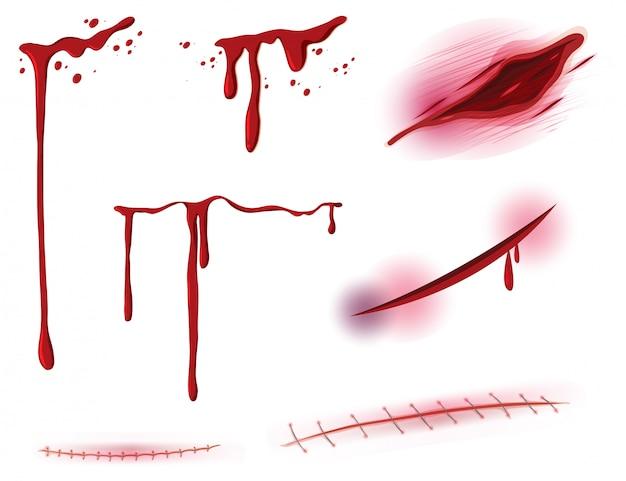 Set di sangue e ferita