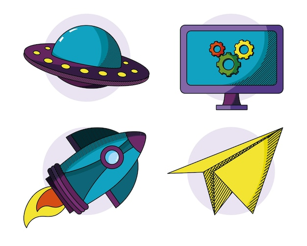 Set di scarabocchi di giocattoli per bambini