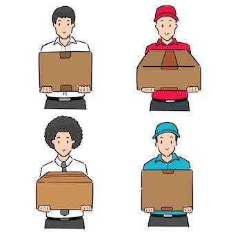 Set di scatola di sollevamento uomo