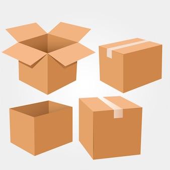 Set di scatole di cartone. .