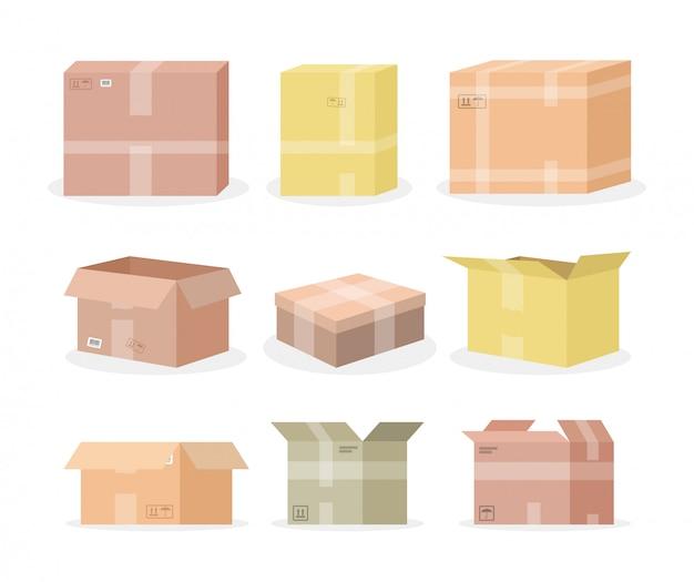 Set di scatole di cartone