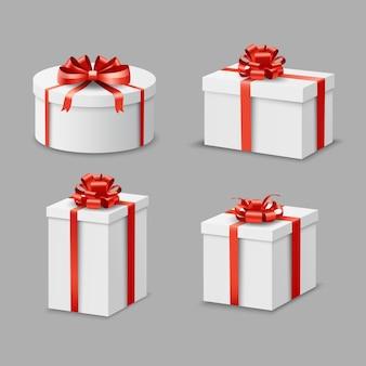 Set di scatole presenti
