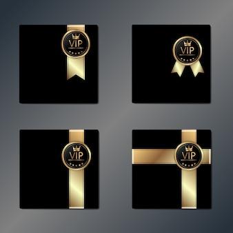Set di scatole regalo vip con nastro dorato,