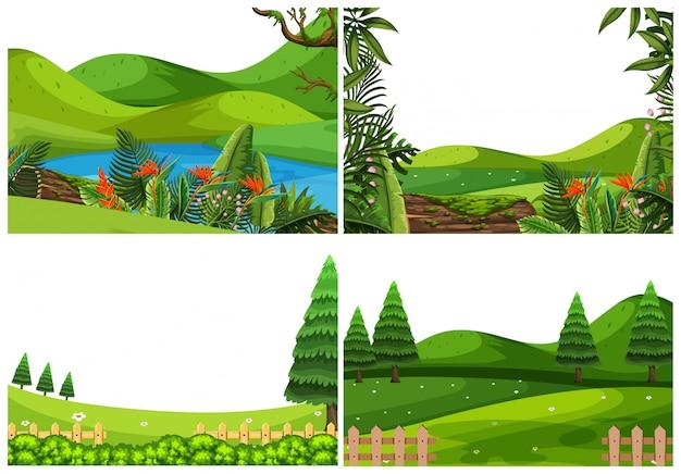 Set di scena del parco