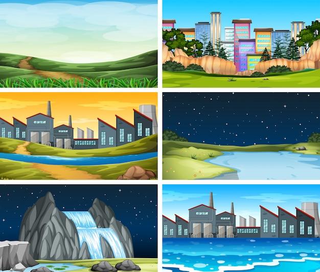 Set di scena diversa posizione