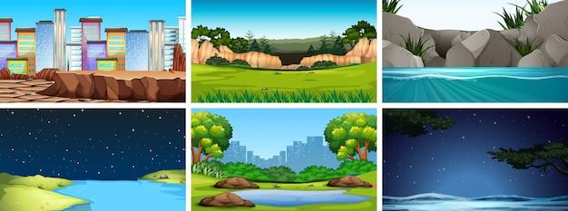 Set di scene in natura