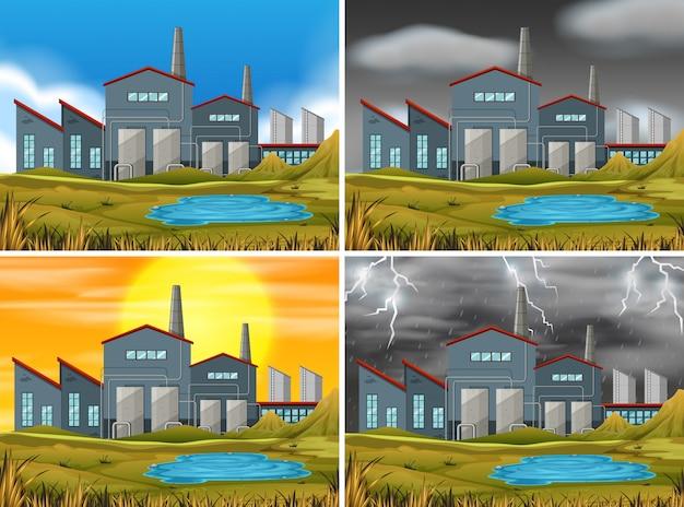 Set di scene industriali