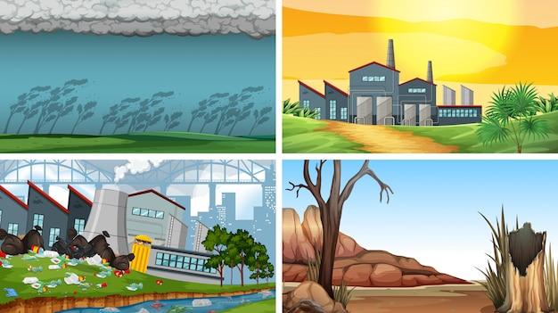 Set di scene inquinate