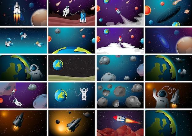 Set di scene spaziali enormi