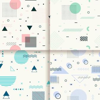 Set di schemi design di memphis