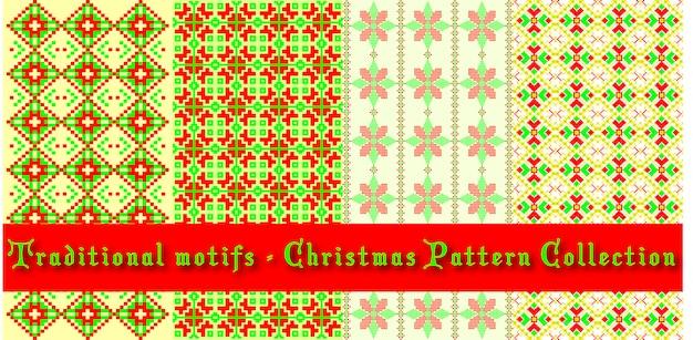 Set di schemi natalizi