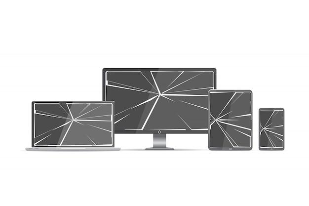 Set di schermo rotto