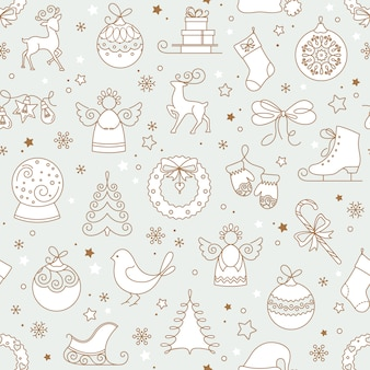 Set di seamless pattern di natale