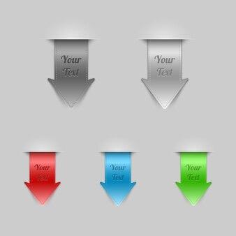 Set di segnalibri e frecce