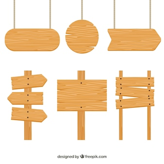 Set di segni di legno