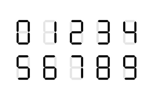 Set di segni numerici digitali