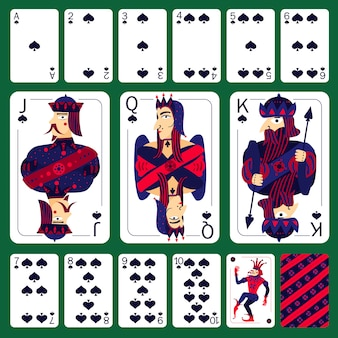 Set di semi di carte da gioco da poker