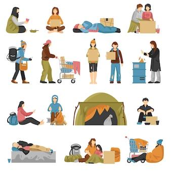 Set di senzatetto