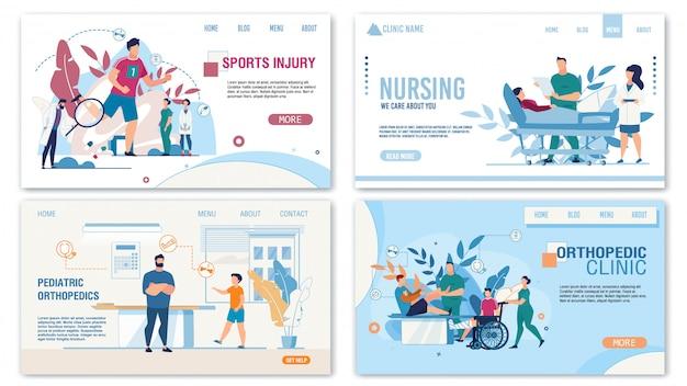 Set di servizi del dipartimento traumatologico ortopedico