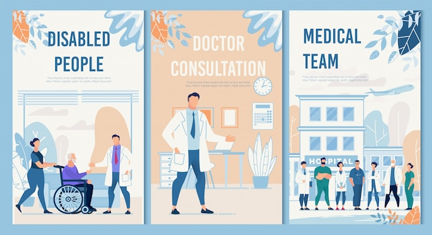 Set di servizi di terapia fisica e riabilitazione