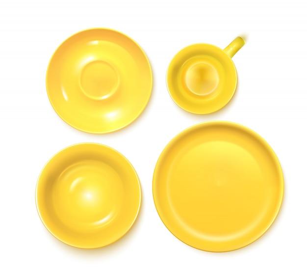 Set di servizi giallo