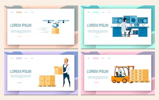 Set di servizi logistici