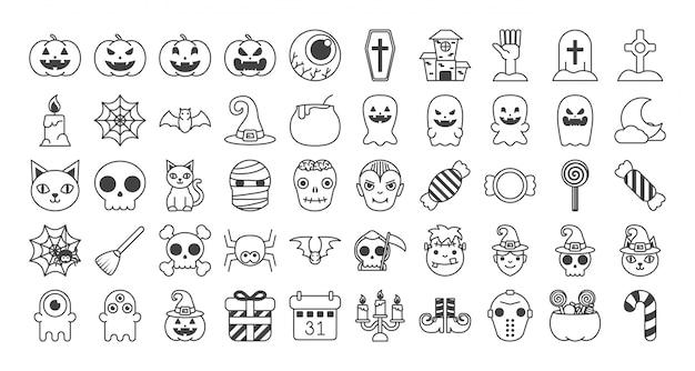 Set di set di halloween
