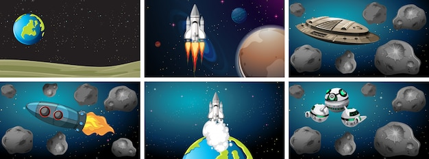 Set di set di sfondo dello spazio