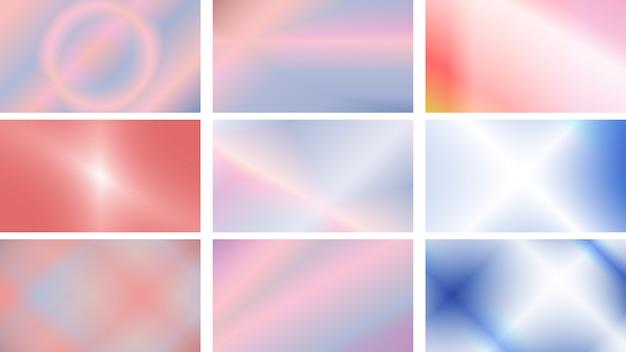 Set di sfondi moderni in colori vivaci e morbidi