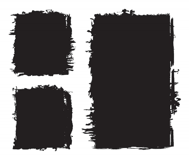 Set di sfondi neri grunge