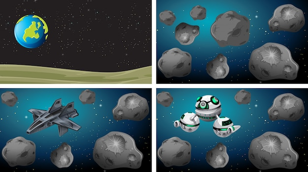 Set di sfondi spaziali