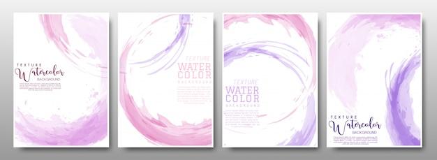 Set di sfondo cerchio rosa pastello