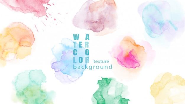 Set di sfondo colorato astratto macchia dell'acquerello