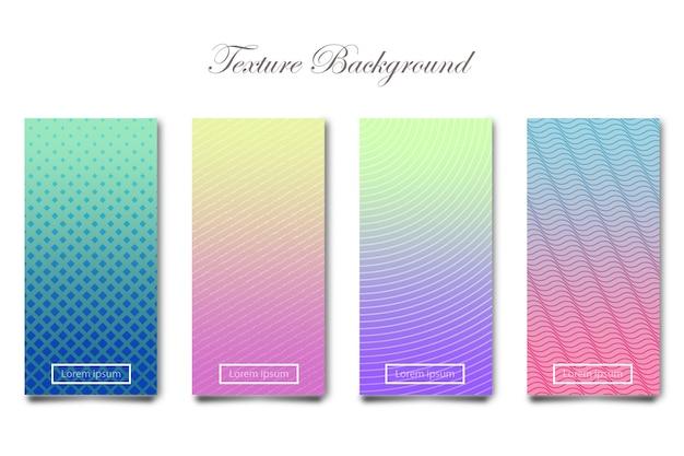 Set di sfondo con texture in colore pastello