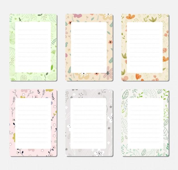 Set di sfondo di design per notebook