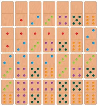 Set di sfondo di dominos