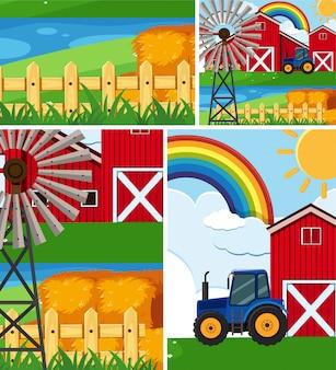 Set di sfondo di fattoria