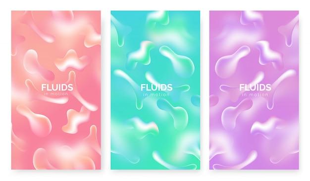 Set di sfondo di fluids in motion