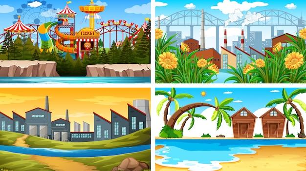 Set di sfondo diverso set