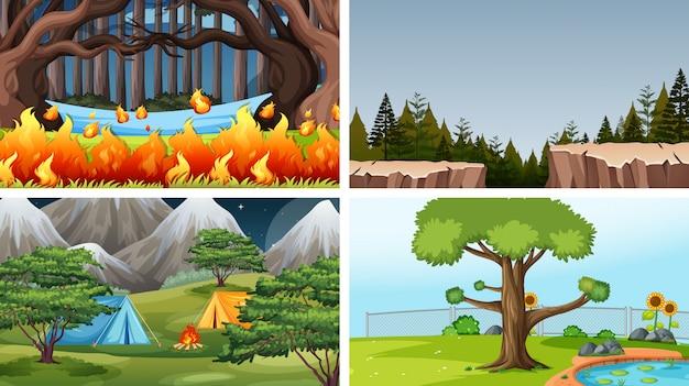 Set di sfondo diverso