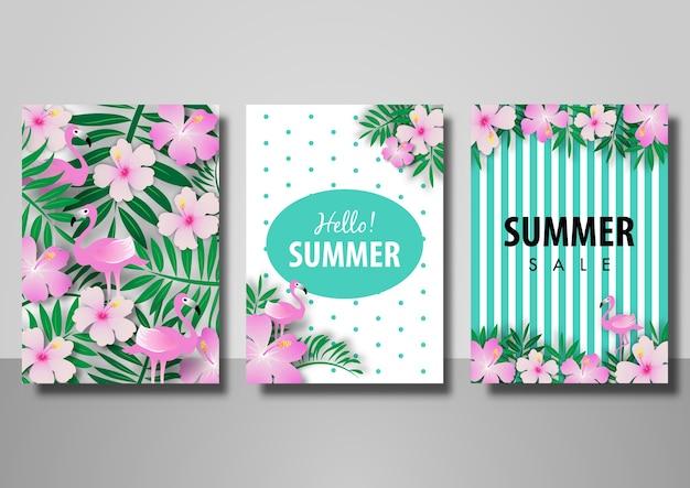 Set di sfondo estate vendita