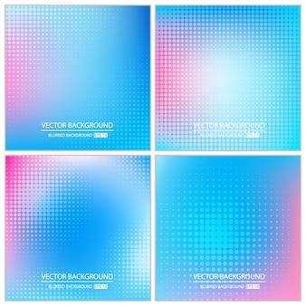 Set di sfondo multicolore minimal astratto.