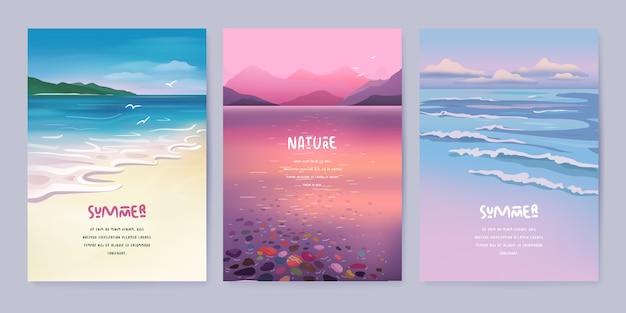 Set di sfondo paesaggio natura