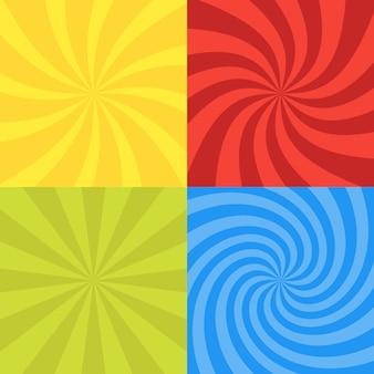 Set di sfondo radiale vorticoso.