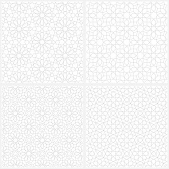 Set di sfondo seamless pattern arabo