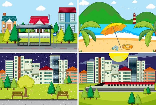 Set di sfondo semplice