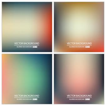 Set di sfondo sfocato multicolore.