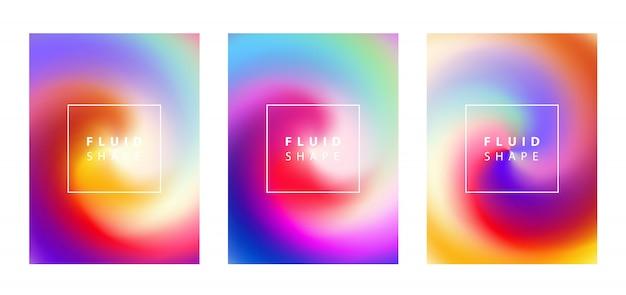 Set di sfondo sfumato fluido