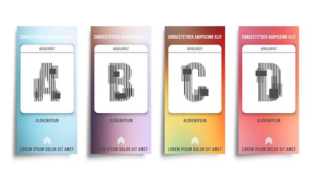 Set di sfondo sfumature di colore uniforme.